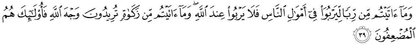 Surah al-Rum, verse 39 _ Riba prohibition in Quran