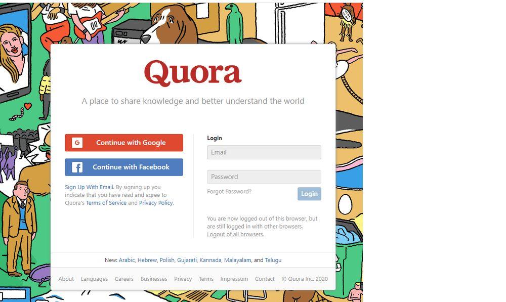 Quora Q&A website