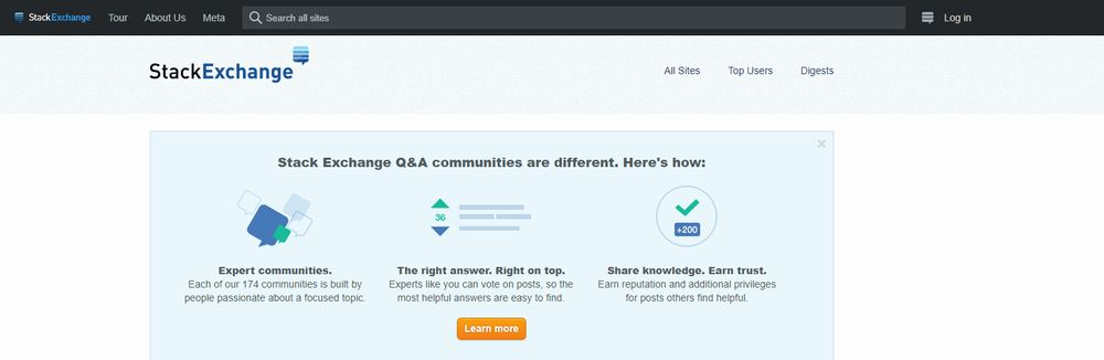 Stackexchange Q&A Websites
