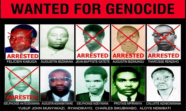 Wanted for genocide in Rwanda
